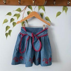 Deux Par Deux Chambray Skirt Size 7